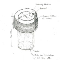 Plan des UR-Rotations-Teichfilter